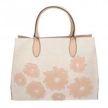 Stylová růžová kabelka do ruky s pěkným vzorem