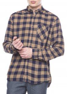 Košile Tom Tailor Denim   Modrá Hnědá   Pánské   M