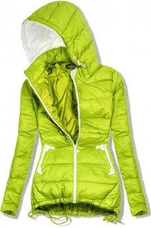 Limetková prodloužená jarní bunda