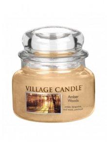 Village Candle Vonná svíčka ve skle, Jantarové tóny lesa - Amber Woods 116311829, 11oz