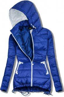 Modrá prodloužená jarní bunda