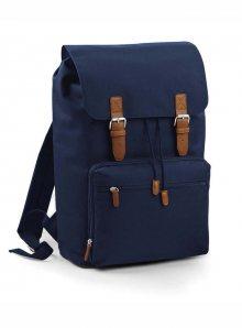 Prostorný retro batoh - Námořnická modrá univerzal