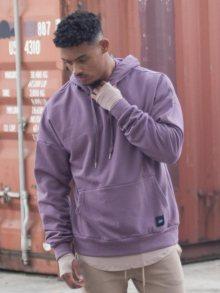 Mikina Purple Dropped Shoulders fialová M