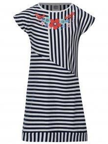Modro-bílé holčičí pruhované šaty tuc tuc Jersey