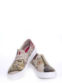 GOBY Dámská slip-on obuv VN4002_Printed - Colourful