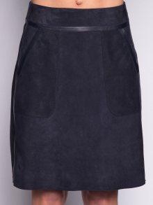 John&Yoko Dámská kožená sukně VALENTINA VEL_MARINE\n\n