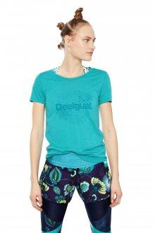 Desigual tyrkysové sportovní tričko Tee Co Essentials
