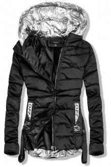 Černá bunda se stříbrnými prvky