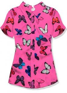 Růžový top s potiskem motýlů