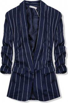 Tmavě modré pruhované sako