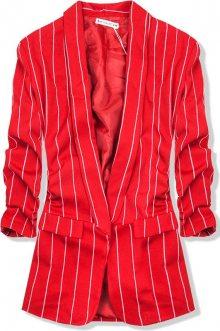 Červené pruhované sako