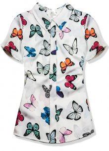 Bílý top s potiskem motýlů