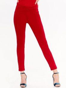 Kalhoty červená 34