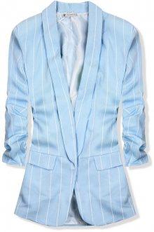 Baby blue pruhované sako