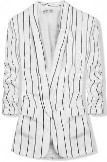 Bílé pruhované sako