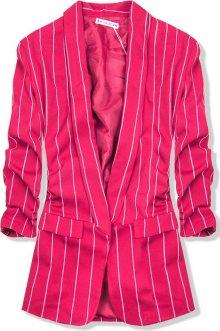Růžové pruhované sako