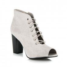 Vázané šedé kotníkové boty Open Toe