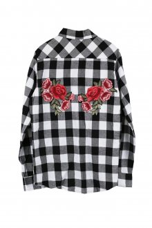 Kostkovaná košile Roses s nášivkou Back vel. S