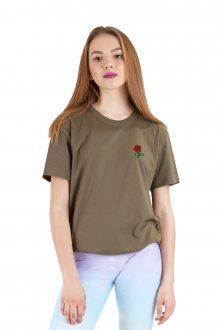 Tričko Small Rose s nášivkou, vel. XL