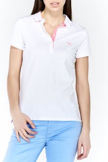 Polokošile CONTRAST COLLAR PIQUE SHORT SLEEVED