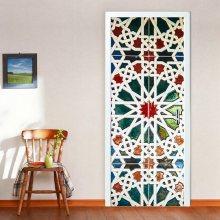 Walplus Sada 2 dekorativních samolepek - vitráž WDDM015\n\n