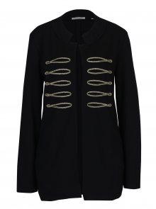 Černý lehký kabát s detaily ve zlaté barvě Rich & Royal
