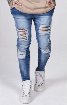 Ripped Jeans Blue Distressed XL