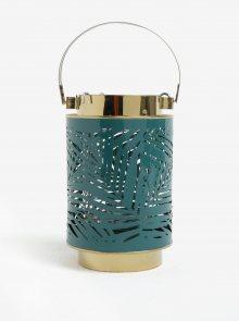 Zelená kovová lucerna Kaemingk