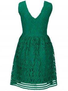 Zelené krajkové šaty VERO MODA New Exclusive