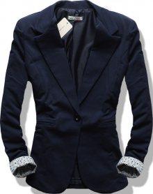 Tmavě modré ležérní sako