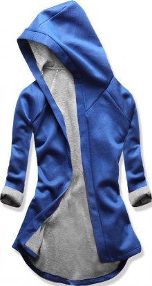 Kobaltově modrá tunika s kapucí