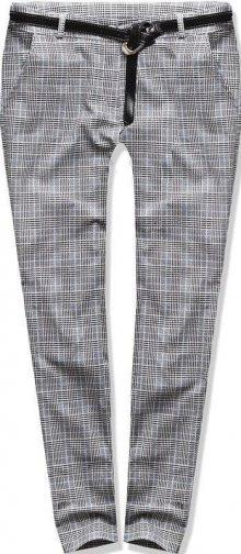 Šedo-modré kárované kalhoty