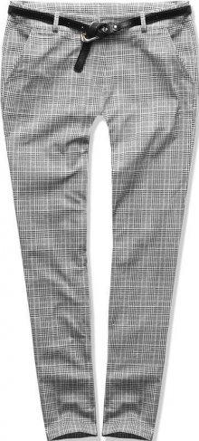 Šedé kárované kalhoty
