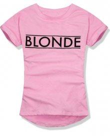 Pudrové tričko BLONDE