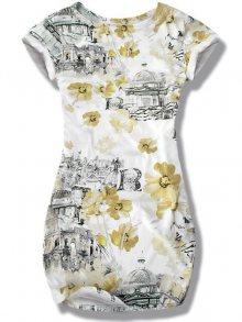 Žluté kytkové šaty