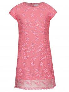 Růžové květované šaty 5.10.15.