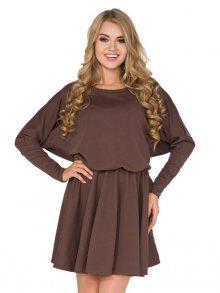 La Luna Dámské šaty LL14/5_brown\n\n