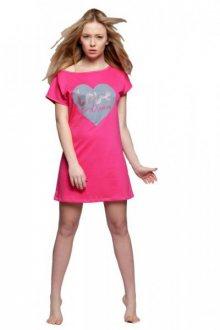Sensis Sanne Noční košile XL růžovo-šedá