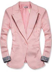 Růžové ležérní sako