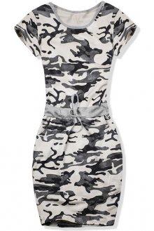 Béžové army bavlněné šaty
