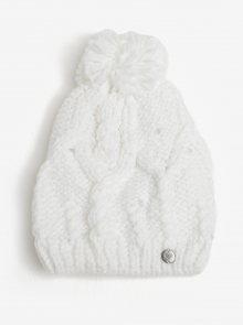 Bílá dámská pletená čepice s kamínky Roxy Shoot Star