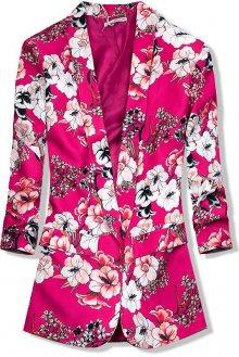 Růžové květinové sako