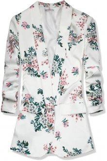Bílé květinové sako