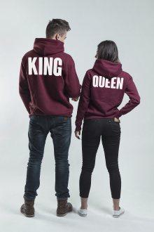 Set mikin s kapucí Queen King Burgund [KQ]