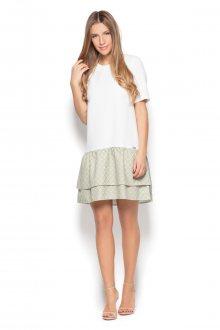 Katrus Dámské šaty K412_ecru-pattern-39