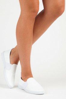 Módní bílé nazouvací tenisky