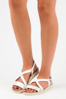 Elegantní bílé sandály s širšími pásky