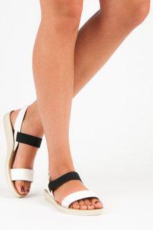 Parádní bílé sandály s gumičkami