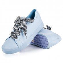 Parádní modré tenisky s tkaničkami