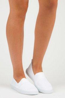Textilní bílé nazouvací tenisky